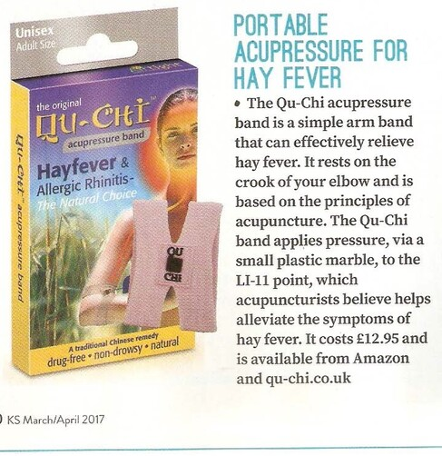 Hay fever elbow acupressure band